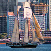 Tall Ship In San Diego  Poster