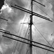 Tall Ship Masts Poster by Robert Ullmann