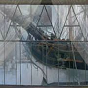 Tall Ship Through A Window Poster