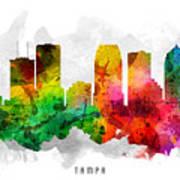 Tampa Florida Cityscape 12 Poster