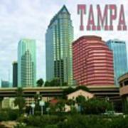 Tampa From The River Tote Poster