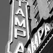 Tampa Theatre Bw Poster