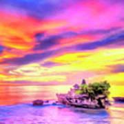 Tanah Lot Temple Sunset Bali Poster