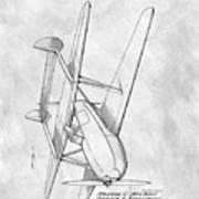 Tandem Biplane Patent Poster