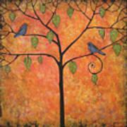 Tangerine Sky Poster