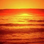 Tangerine Sunset Poster