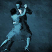 Tango In Blue Poster