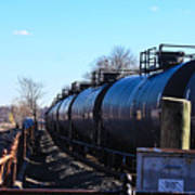 Tanker Cars Pulled By Csx Engines Poster
