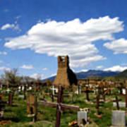 Taos Pueblo Cemetery Poster