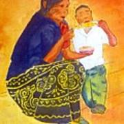 Tarascan Senora  And Nino Poster
