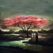 Tardis Blossom Poster