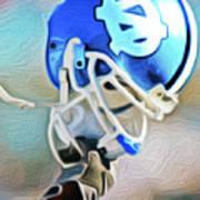 Tarheel Football Helmet Nixo Poster