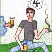 Tarot Of The Younger Self Four Of Cups Poster