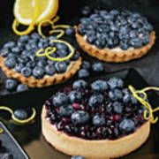 Tart With Blueberries Poster