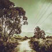 Tasmania Country Roads Poster