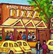 Tasty Food Pizza On Decarie Blvd Poster