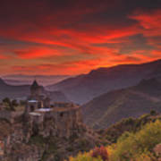 Tatev Monastery At Dawn Poster