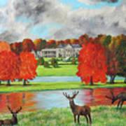 Tatton Hall In Autumn Poster