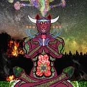 Taurus -psychedelic Zodiac Poster