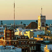 Tavira Tower And Post Office From West Tower Cadiz Spain Poster