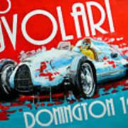 Tazio Nuvolari Auto Union D Donnington 1939 Poster