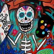 Te Amo Painter Dia De Los Muertos Poster