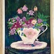 Tea Cup Bloom Poster