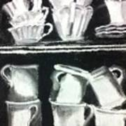 Crooked Tea Cups Poster