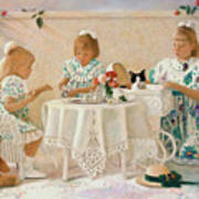 Tea In The Rose Garden Poster