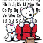 Teacher's Pet Westies Poster by Kim Niles