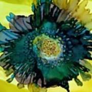 Teal Bloom Poster
