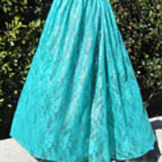 Teal Green Lace Skirt. Ameynra By Sofia Poster