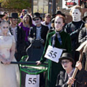 Team 55 At Emma Crawford Coffin Races In Manitou Springs Colorado Poster