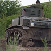 Tearing It Up - M3 Stuart Light Tank Poster