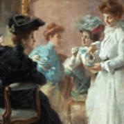 Teatime In My Living Room In Via Senato Poster