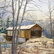 Teegarden Covered Bridge In Winter Poster