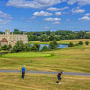 Teeing Off At Leeds Castle Poster