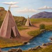 Teepees On The Plains Poster