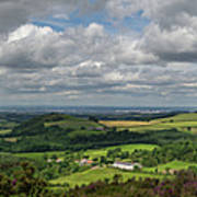 Tees Plain And Roseberry Topping Poster