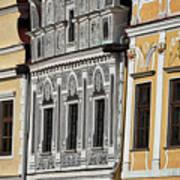 Telc Facade #2 - Czech Republic Poster