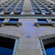 Telephone Building With Indigo Reflections Poster