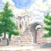 Temple Of Apollo - Corinth Poster