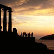 Temple Of Poseiden In Greece Poster