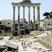 Temple Of Saturn Roman Forum Rome Italy Poster
