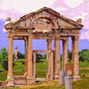 Temple Ruins At Ephesus Poster
