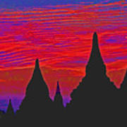 Temple Silhouettes Poster