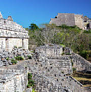Temples In Ek Balam Poster