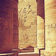 Temples Of Karnak  Poster