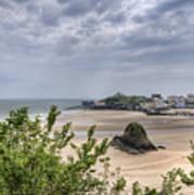 Tenby Pembrokeshire Low Tide Poster