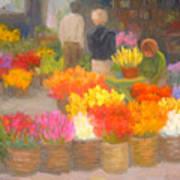 Tending Flowers - Amsterdam Poster